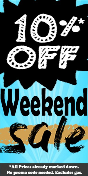 Side Banner - 10% 0ff Weekend Everything Sale