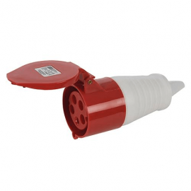 400 Volt 32 Amp Socket (Red)