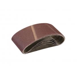 Five Sanding Belts - 75 x 533 - 80G
