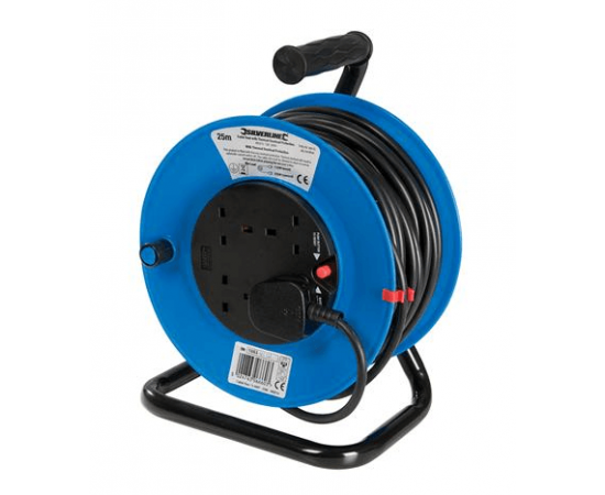 Electrical Cable Reel 240V 25m 4 Sockets
