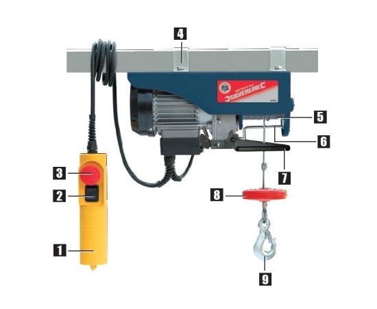 Electric Lifting Hoist - 250 kgs